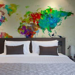 Φωτοταπετσαρία - Paint splashes map of the World
