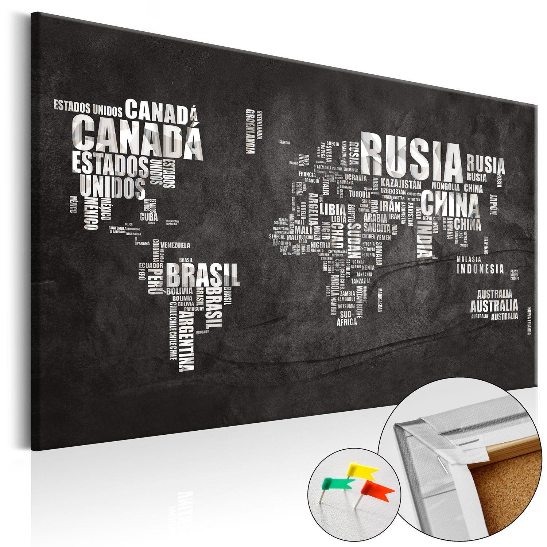 Decorative Pinboard Spanish Geography